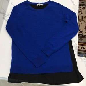 Calvin Klein royal blue and black sweater